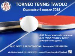 Torneo Tennis Tavolo